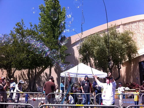 Maker Faire 2012: Bubble Man by Sanctuary-Studio