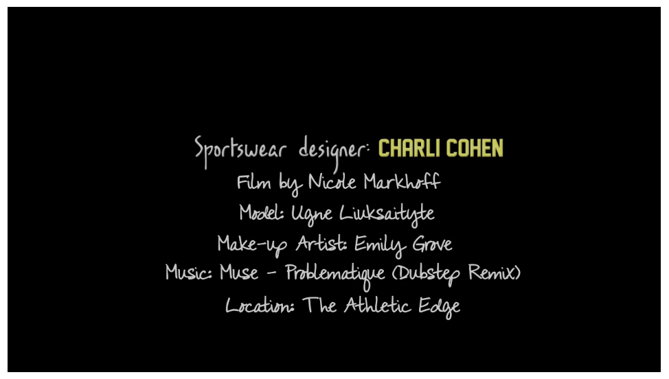 Credits - Fashion Film Sportswear
