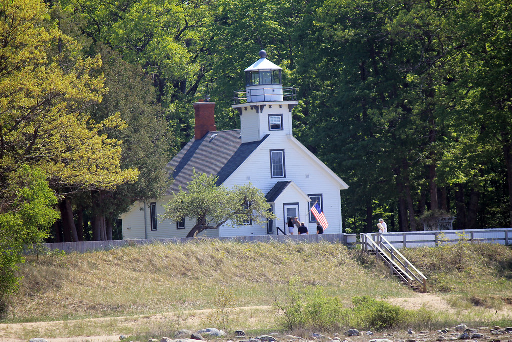 Mission Point Lighthouse - Traverse CIty, Michigan - Wading in Big Shoes