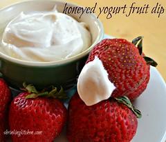 honeyed yogurt fruit dip