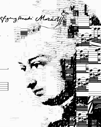 Mozart self portrait