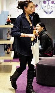 Lindsay Lohan Denim Shirt Celebrity Style Woman's Fashion