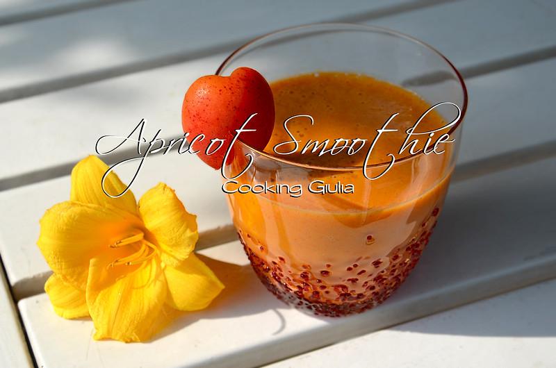 frullato di albicocche | smoothie albicocca | bevanda per abbronzare | cooking giulia