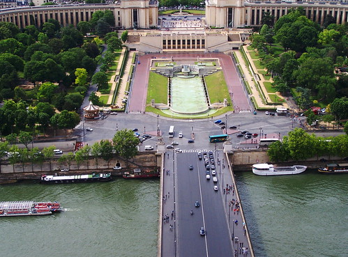 River Seine from Eiffel Tower