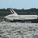 NASA Space Shuttle Enterprise on a barge in the Verrazano Narrows just after passing below the Verrazano Bridge near Bay Ridge, Brooklyn June 3, 2012 by James Prochnik Photography