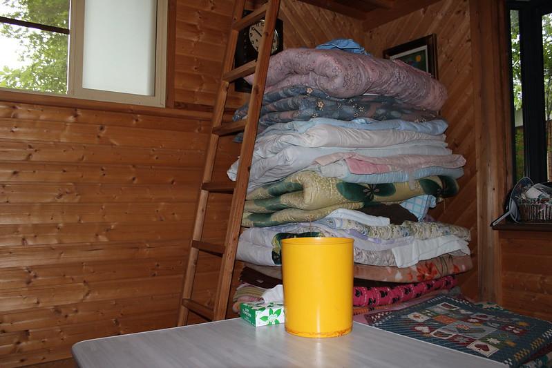 加藤ゲストハウスの小屋中