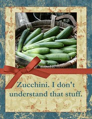 Zucchini Greeting Card