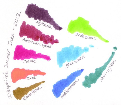 Inkophile's Summer Inks for 2012