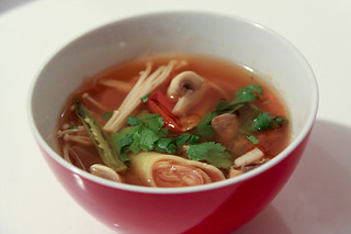 Vegan Tom Yam / Thai spicy sour soup