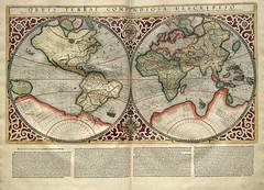 001-Mapa Mundi-Atlas sive Cosmographicae meditationes de fabrica mvndi et fabricati figvra 1595- Mercator- library of Congress