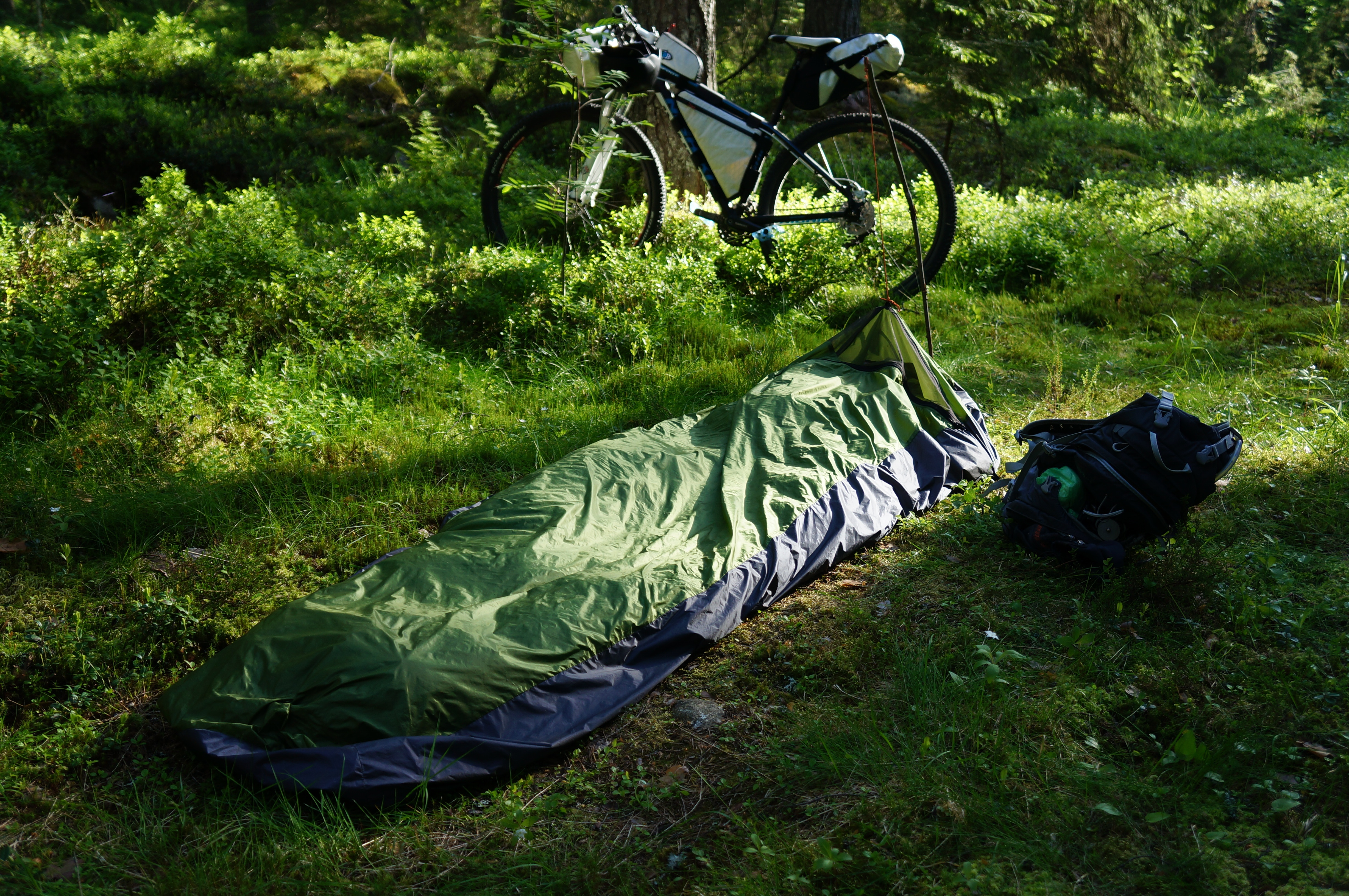 A bike and a bivy.