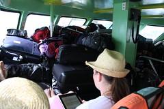 去pp岛的时候行李堆放