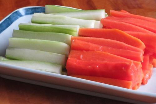 黄瓜和木瓜