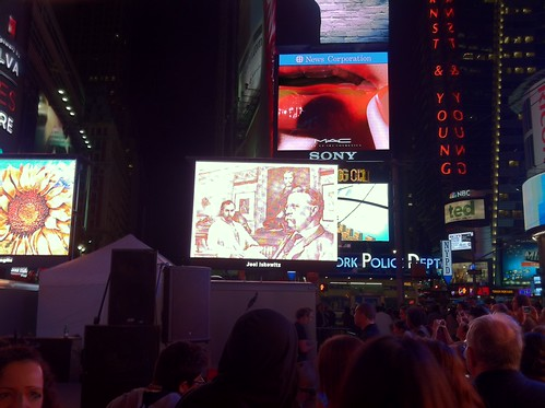 Iskowitz Lincoln cent inspiration in Times Square