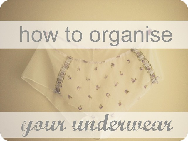 how to organise your underwear