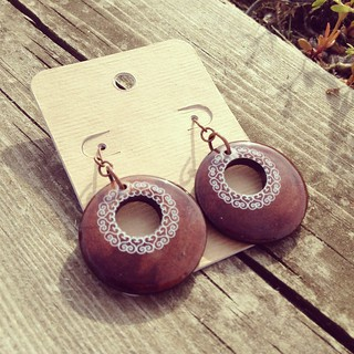 Repurposed Wood Earrings