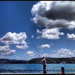 Fishing for sardines on the Bosphorus #istanbul #turkey #iphonesia