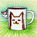 I drew you a Jake the cat & his mug of coffee