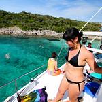 Fish picnic boat tour and Pag Island, Croatia