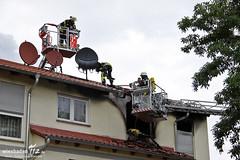 Dachstuhl-/Wohnungsbrand Kostheim 01.07.12