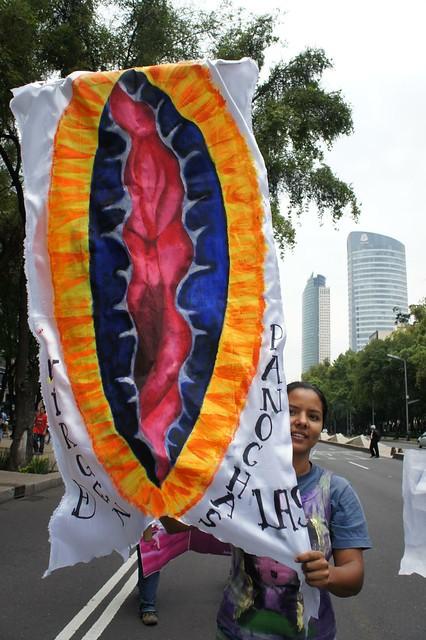 procesión de la virgen de las panochas en la XXXIV MARCHA HISTORICA