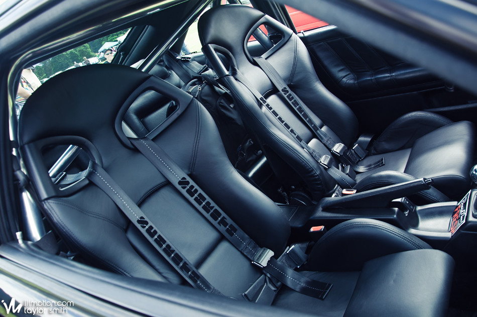 The seats out of a Porsche GT3 set off Tylers interior nicely.
