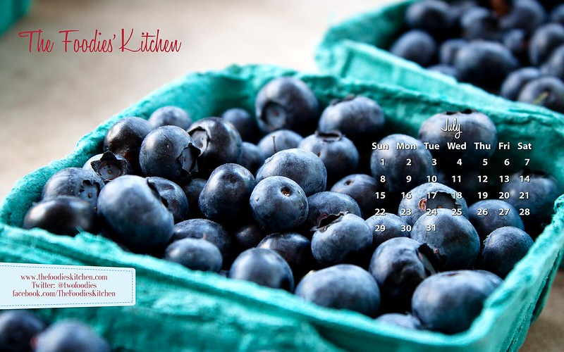 Foodies Freebie: July 2012 Desktop Calendar