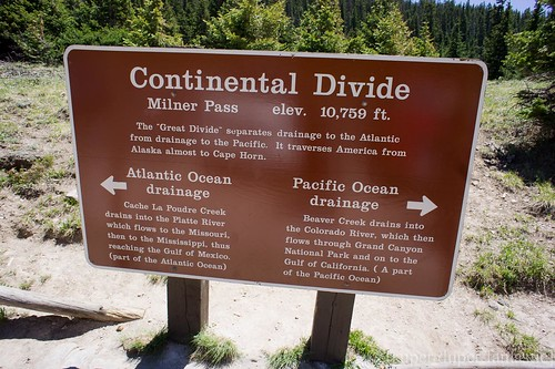 Rocky Mountain National Park - continental divide