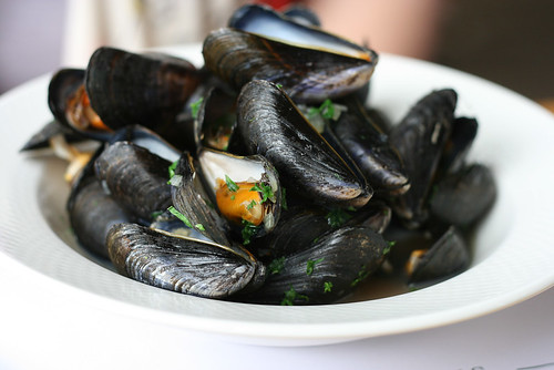Porthilly Mussels cooked in Doom Bar