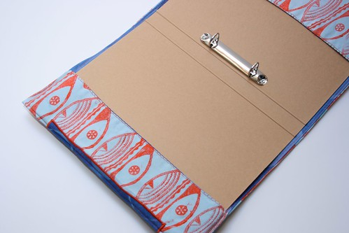 Ideas for sewing projects - Block printed file cover
