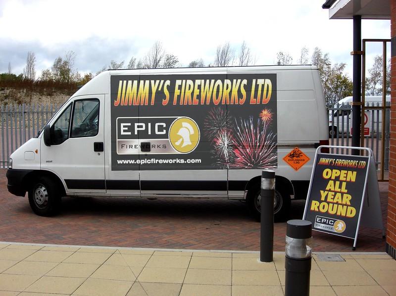 jimmys fireworks van ad