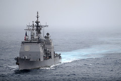 In this file photo, USS Cape St. George transits the Arabian Sea in July. (U.S. Navy photo by Mass Communication Specialist Seaman Joshua E. Walters)