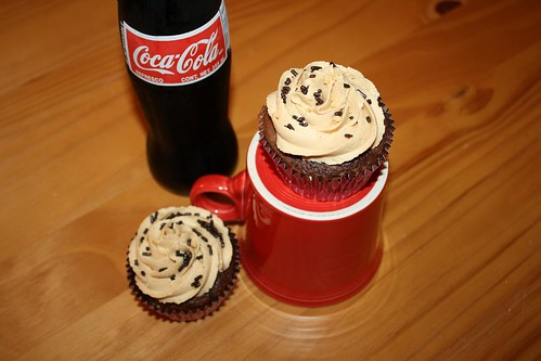 Coca Cola Cupcakes with Salted Peanut Butter Buttercream