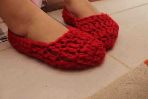 Red Crochet Slippers