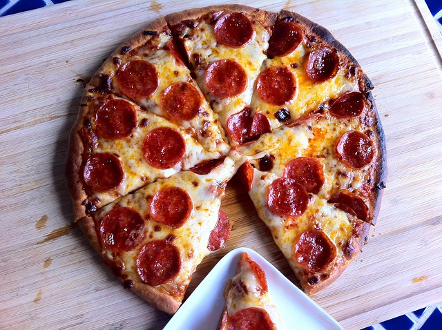 Pepperoni Pizza, Sliced