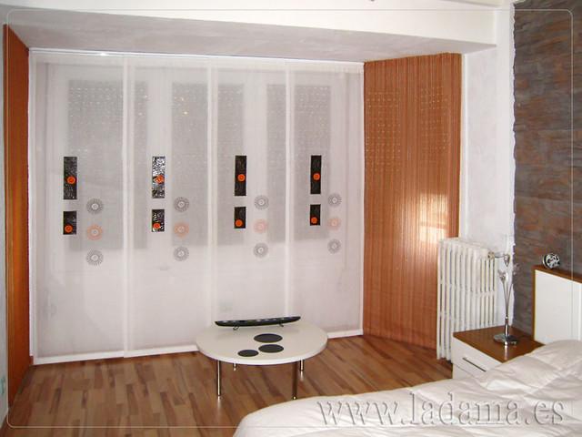 Soluci n para mirador con paneles japoneses los paneles - Decoracion con paneles ...