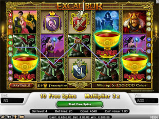 Excalibur bonus game