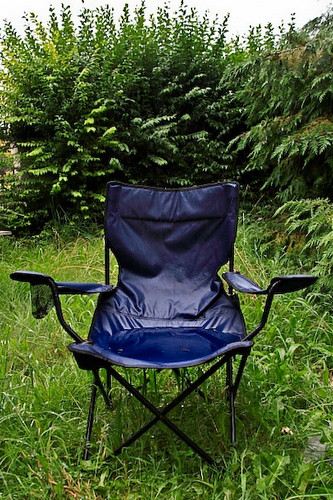 Nuala's chair after rain.