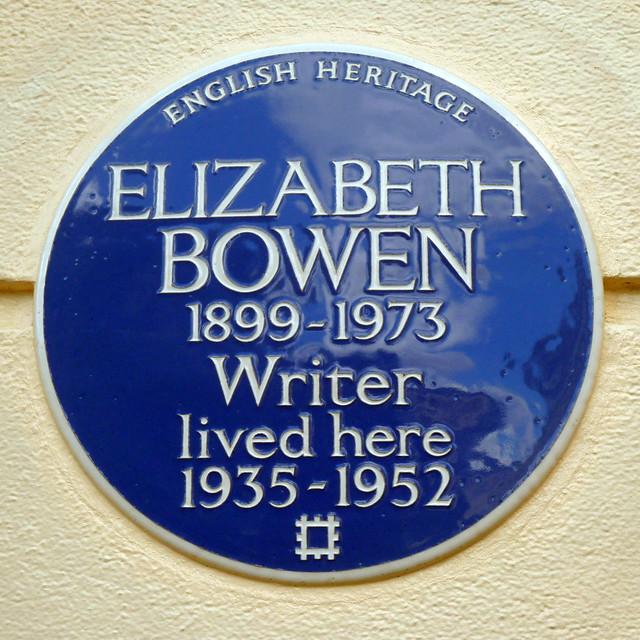 Photo of Elizabeth Bowen blue plaque