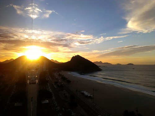 Sunrise over Copacabana