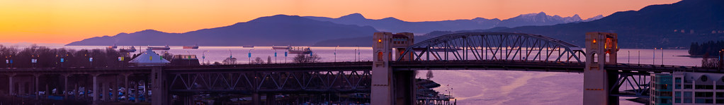 Burrard Street Bridge Panorama 2010