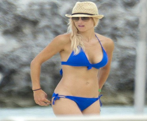 Elin Nordegren Blue Bikini