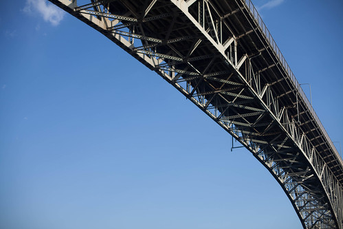 Bridge against the blue