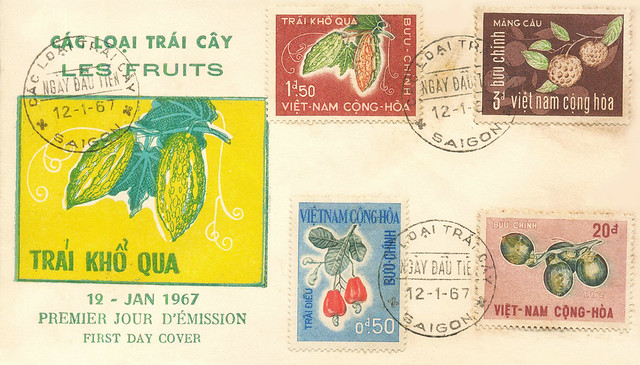 S. Vietnam FDC Fruits 1967