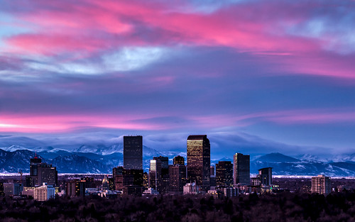 pictures city pink sunset snow mountains beautiful skyline night clouds canon landscape photography colorado downtown cityscape cloudy scenic denver co flowing hdr 2012 cherrycreek tobyharriman pwwinter