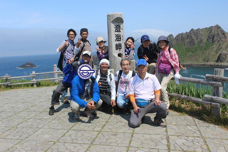 澄海岬で記念撮影