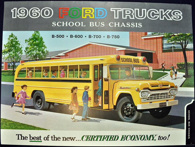 1960 Ford Trucks Brochure - school bus chassis