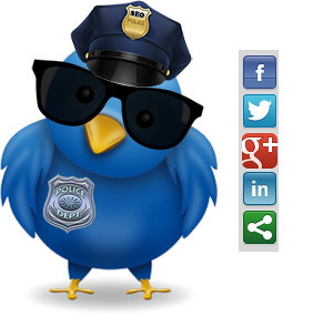 image of the twitter police bird While Using Social Media