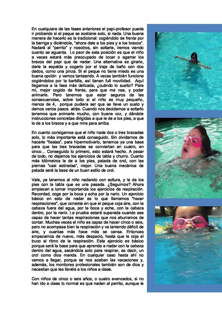 Enseña a nadara tus hijos de vacaciones
