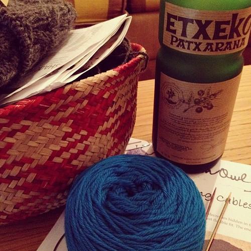 Knitting & Patxaran